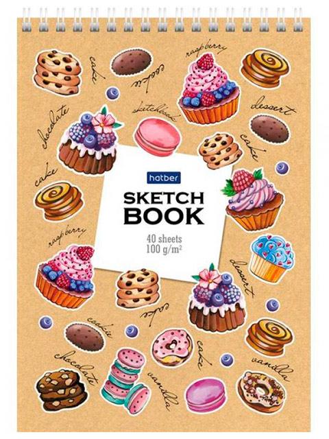 """Блокнот А5 40 листов Хатбер """"Sketchbook. Маленькие радости"""" 100г/м2, на гребне"""