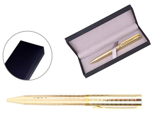 """Ручка шариковая """"Mazari.Marcella"""" цвет корп.золото, 0,7 мм, поворот. механ., синяя, в подар. упак."""