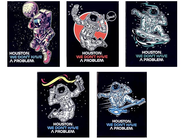 """Тетрадь А5 48 листов клетка Академия Холдинг """"Космонавты"""" на скрепке"""
