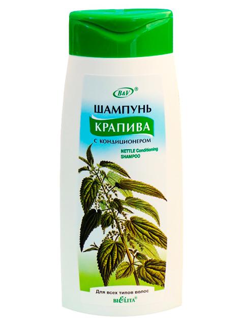 """Шампунь Bielita """"Крапива"""" с кондиционером для всех типов волос 480мл."""