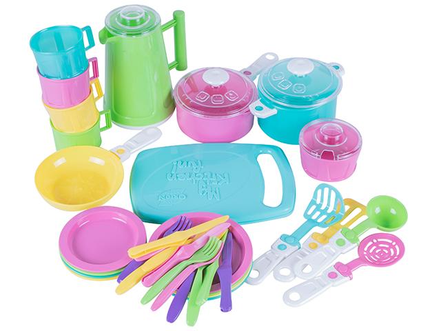 """Игровой набор посуды """"Iriska 6"""", 38 предметов, пластмасса, в пакете"""