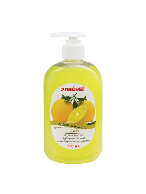 Мыло-крем жидкое ЛАЙМА Лимон с антибактериальным эффектом, 500 мл