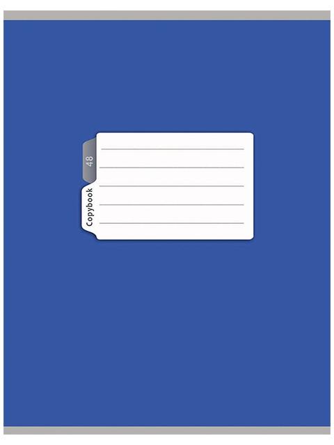 """Тетрадь А5 48 листов в клетку PROFIT """"Синяя классика"""" на скрепке"""