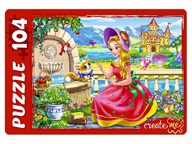 """Пазлы 104 элемента 240х340 Рыжий кот """"Сказочная принцесса"""""""