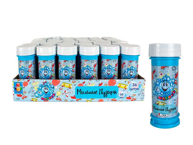 """Мыльные пузыри """"Мы-шарики! Мальчики"""" 50 мл, в голубой упаковке"""