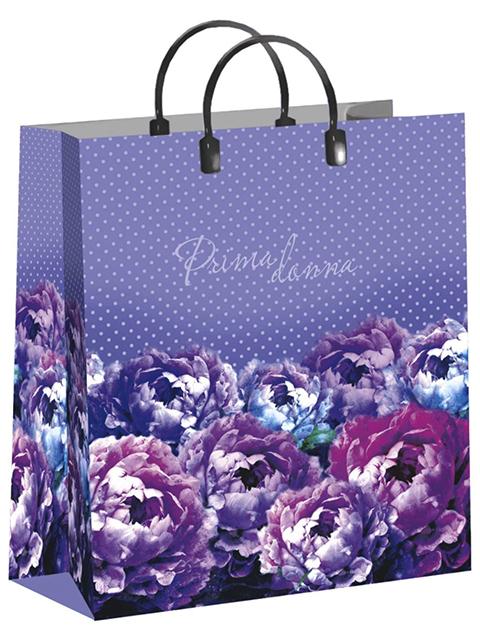 """Пакет подарочный пластиковый 30х40+10 Интерпак """"Примадонна"""""""