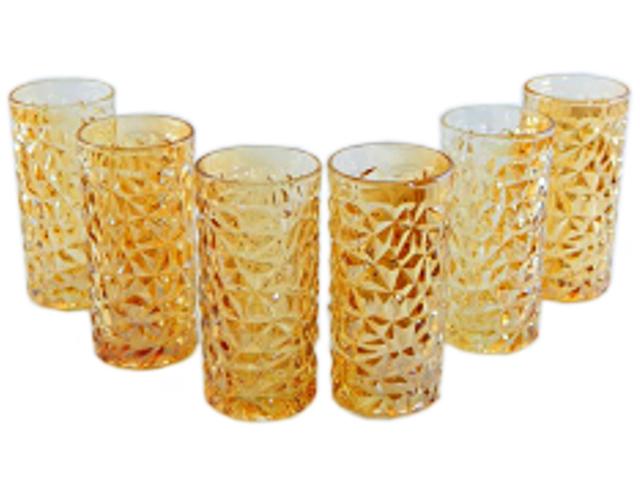 "Набор стаканов ""Amber"" 6шт. в упак., 350мл, стекло"