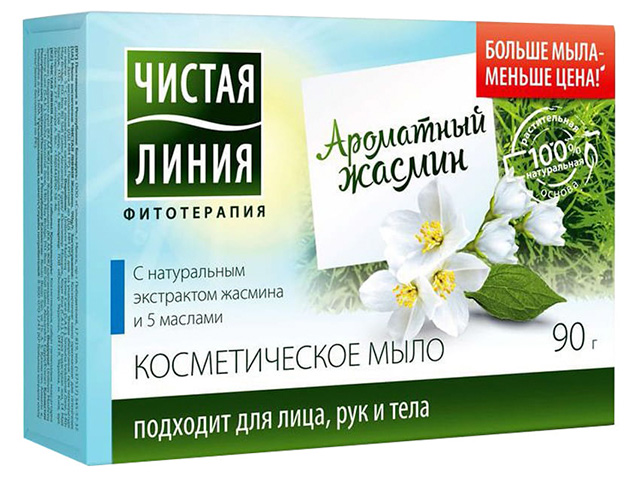 """Мыло косметическое Чистая Линия """"Ароматный жасмин"""", 90г"""