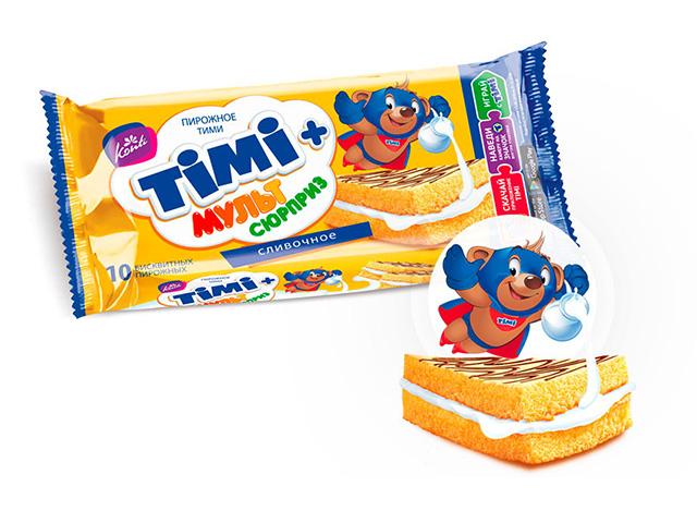 Пирожное TIMI 30г. сливочное