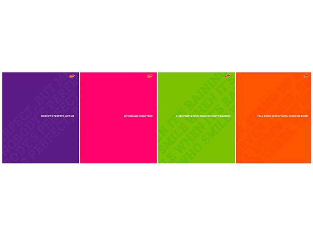 """Тетрадь А5 48 листов клетка Академия Холдинг """"Монохром"""" обложка пластиковая на скрепке"""