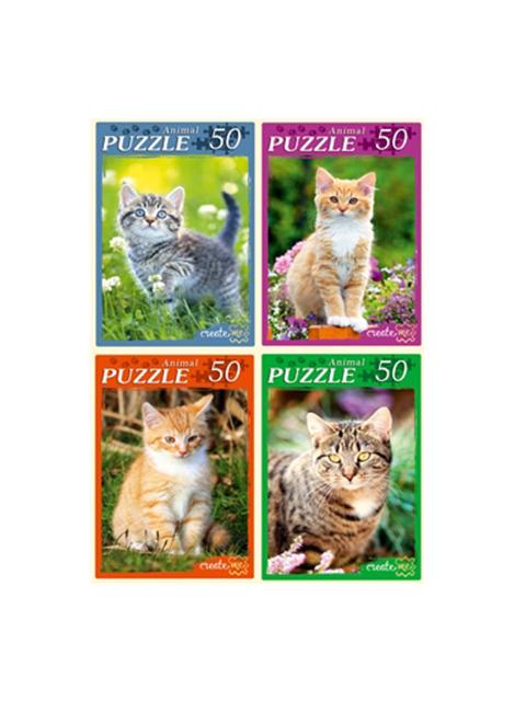 """Пазлы 50 элементов 225х165 Рыжий кот """"Самые милые котята"""""""