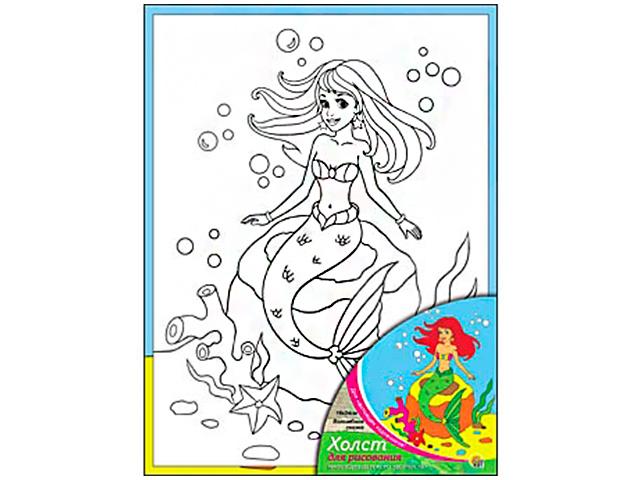 """Набор для детского творчества """"Холст с красками. Волшебная сказка"""" 18х24 см"""
