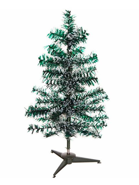 """Елка новогодняя """"Метелица"""" 60 см, зеленая/ белый иней, 60 веток, на подставке"""