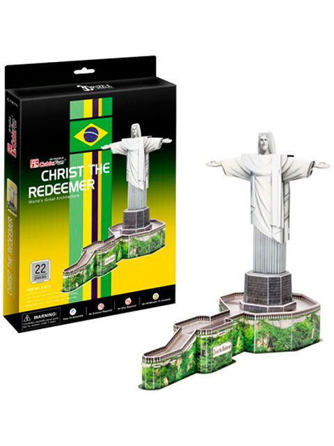 """Конструктор 3D-пазлы CubicFun """"Статуя Христа-Искупителя (Бразилия)"""" 22 детали"""