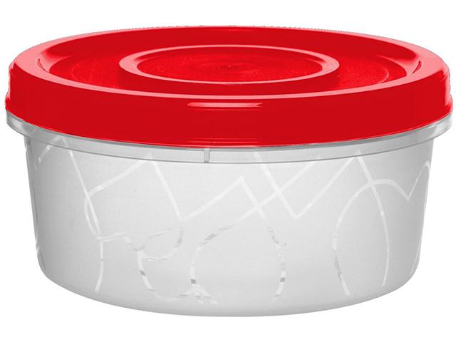 Емкость для продуктов с завинчивающейся крышкой 0,4л сочный томат