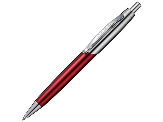 """Ручка шариковая автоматическая Pierre Cardin """"EASY"""" корпус красный/серебристый, в подар. упак."""