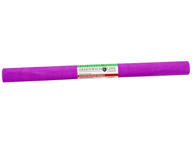"""Бумага крепированная """"Greenwich Gl Line"""" 50х250 32 г/м2, ярко-сиреневая"""