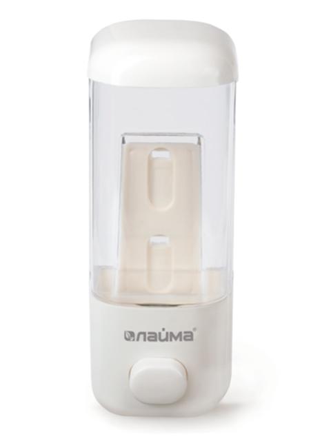 Диспенсер для жидкого мыла ЛАЙМА наливной, пластик, белый, 500мл
