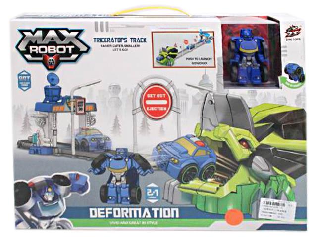 """Игровой набор """"Автотрек. Полиция"""" с роботом-трансформером"""
