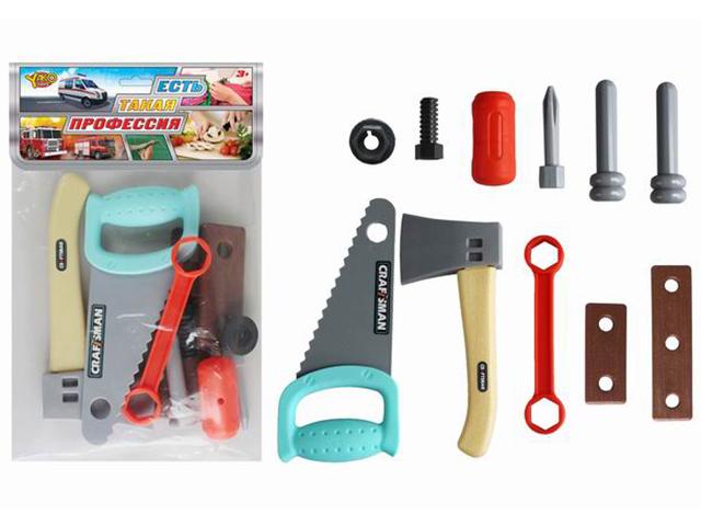 """Игровой набор инструментов """"Профессионал"""" 11 предметов в пакете"""