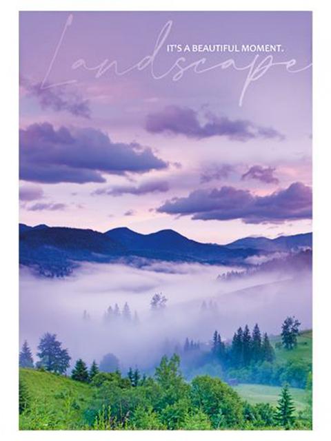 """Ежедневник недатированный А5 352 стр. БиДжи """"Landscape"""" ламинация матовая"""