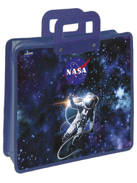 """Папка для тетрадей А4 deVENTE """"NASA"""" на молнии, с пластиковыми ручками"""