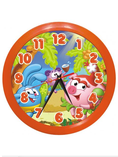 """Часы настенные пластиковые П1-11/7-167 """"Смешарики"""""""
