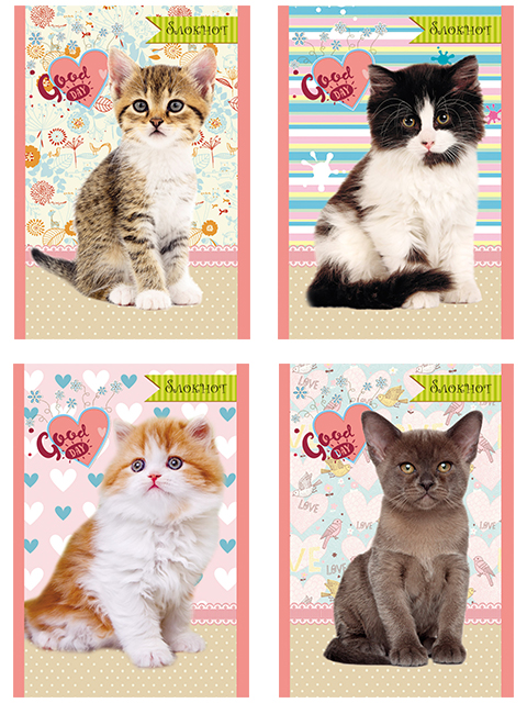 """Блокнот А6 24 листа Проф-Пресс """"Хорошие котята"""" на скрепке"""