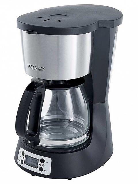 Кофеварка электрическая DELTA  DL-8153, 0,6 л, черная