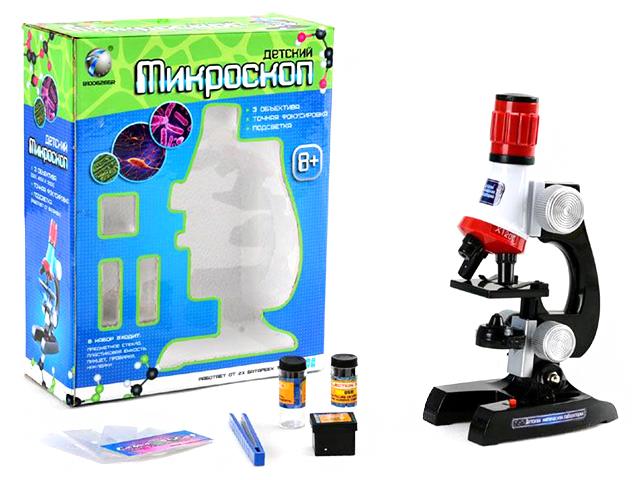 """Микроскоп детский """"Всезнайка. Лаборатория"""" 24 см, подсветка"""