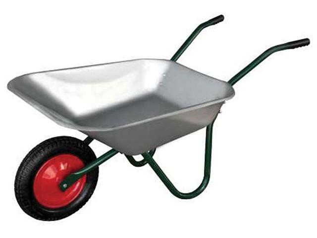 Тачка садовая одноколесная, 85 литров, колесо: 3.25/3.00-8, обод металл