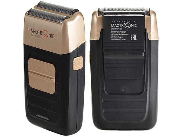 Бритва MAXTRONIC MAX-SH04A-1, 2 ножа, триммер