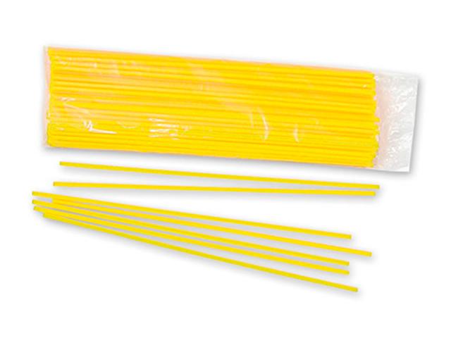 Палочки для шариков Желтые 100 шт. в упак