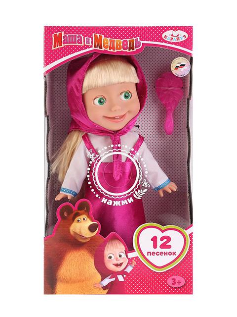 """Кукла """"Карапуз"""", Маша и Медведь 30 см, озвуч., с аксессуаром, в картонной упаковке"""