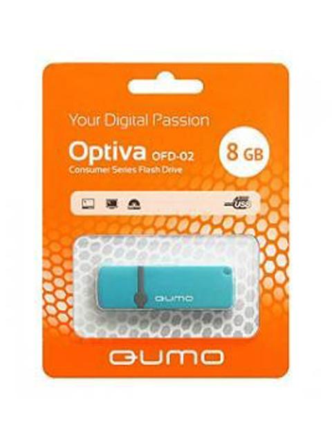 Флэш-диск QUMO 08 Gb Optiva-02 Blue