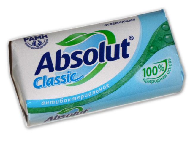 """Мыло туалетное Absolut """"Освежающее антибактериальное"""", 90г"""