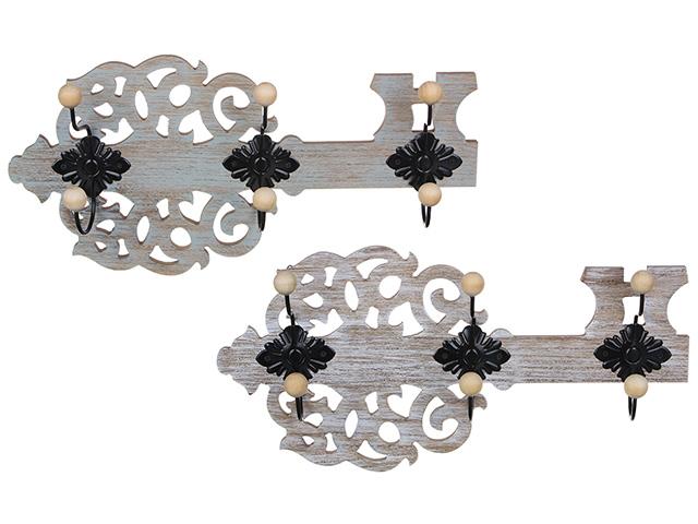 Ключница открытая в форме ключа, МДФ, 39,5х19,5 см 2 вида