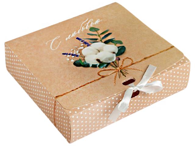 """Коробка подарочная складная """"С любовью"""" 20х18х5 см"""