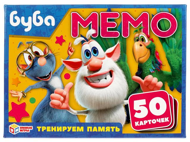 """Игра развивающая """"МЕМО. Буба"""" 50 карточек, в коробке"""