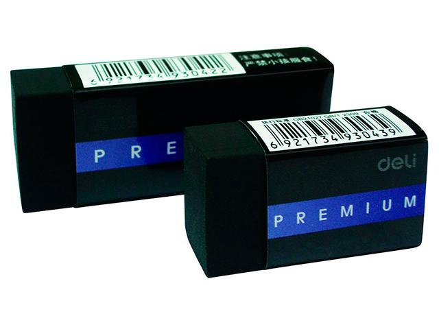 """Ластик DELI """"Premium"""" 40х22х12, черный, индивидуальная упаковка"""