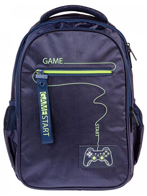 "Рюкзак подростковый Хатбер ""Basic Style. Start Game"" 41х30х15 см, 2 отделения, 3 капмана"