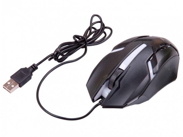 Мышь компьютерная Ritmix ROM-305, проводная оптическая, черная