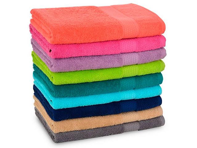 """Полотенце """"Махровое гладкокрашенное"""" 40х70см. хлопок, 450 гр/м2, цвет в ас-те"""