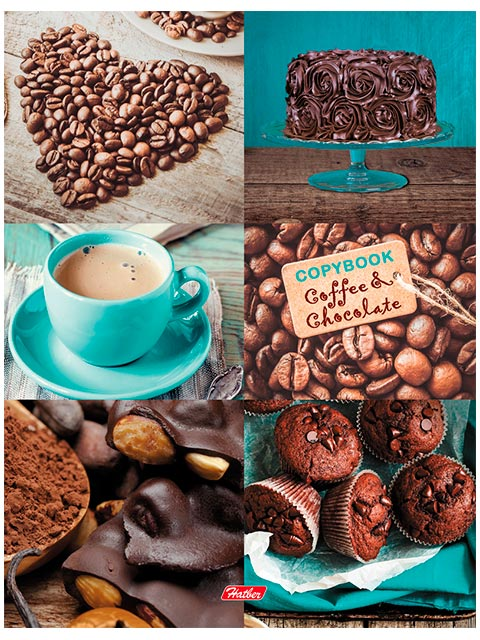 """Тетрадь А5 120 листов, клетка Хатбер """"Кофе и шоколад"""" на кольцах"""