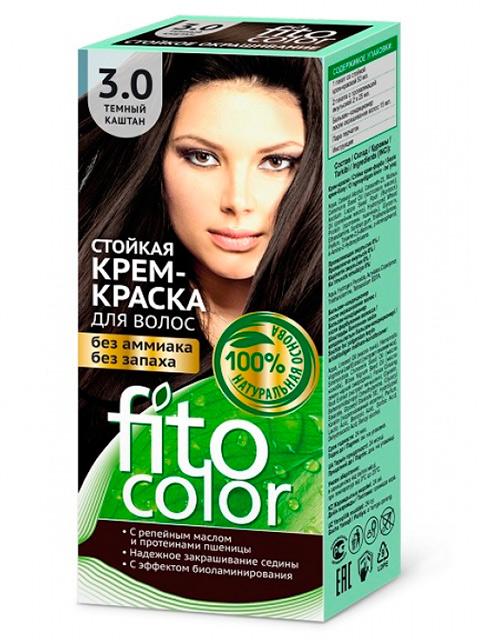 Крем-краска для волос FITOCOLOR 3.0 Темный каштан