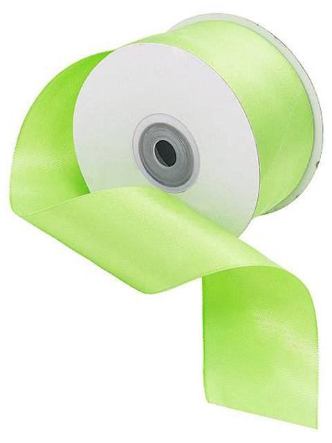 Лента атласная, декоративная 5,0х32,9м №8074/3034 св.зеленый (цена за 1м)