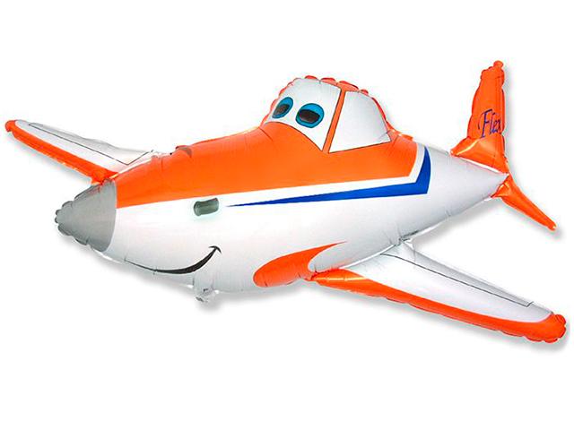 """Шар Фигура 14"""" Гоночный самолет (мини) фольгированный цена за штуку"""