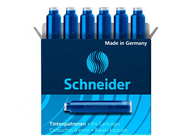 """Картриджи чернильные """"Schneider"""" синие 6шт."""