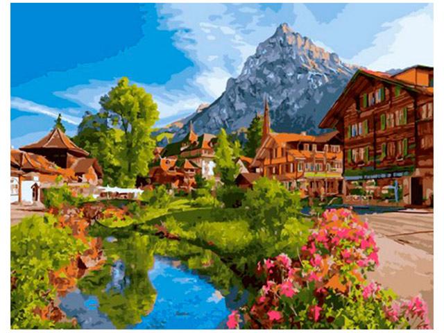 """Картина по номерам PaintBoy """"Отпуск в Швейцарии"""" 40*50см"""