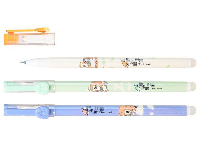 """Ручка """"пиши-стирай"""" гелевая Basir """"Совушка"""" 0,38 мм, корпус с рисунком, синяя"""